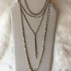 Stella & Dot Jewelry - Stella dot aven layering necklace worn over 5 ways